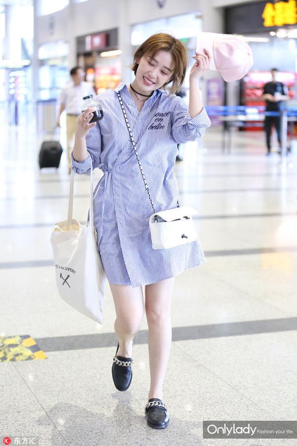 2017年5月14日,北京 ,阚清子现身机场