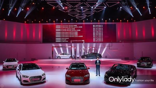 一汽-大众奥迪销售事业部执行副总经理荆青春公布全新奥迪A5家族车型价格