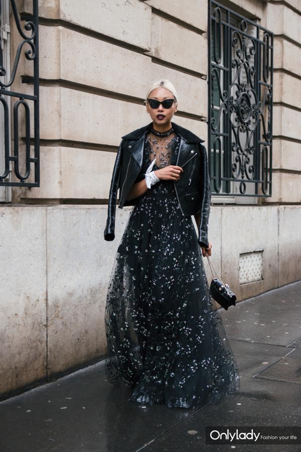 2017年5月24日,近日,时尚博主Vanessa Hong 潮人街拍。