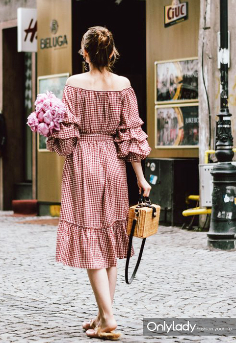 Zara-red-midi-gingham-dress-fluffy-pink-gucci-mules-gucci-lookalike-dupes-square-straw-bag-red-sunglasses-peonies-star-earrings-andreea-birsan-couturezilla-cute-summer-outfit-2017-2-1-683x1024