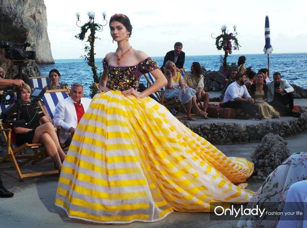 Dolce & Gabbana, Alta Moda, Fall Winter 2014-15 in Capri, Italy