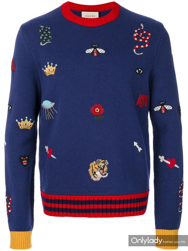 Gucci 刺绣毛衣