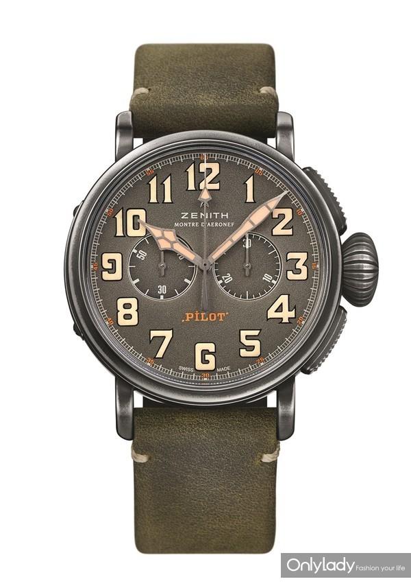 9- 真力时飞行员系列Type 20 御行腕表,45毫米