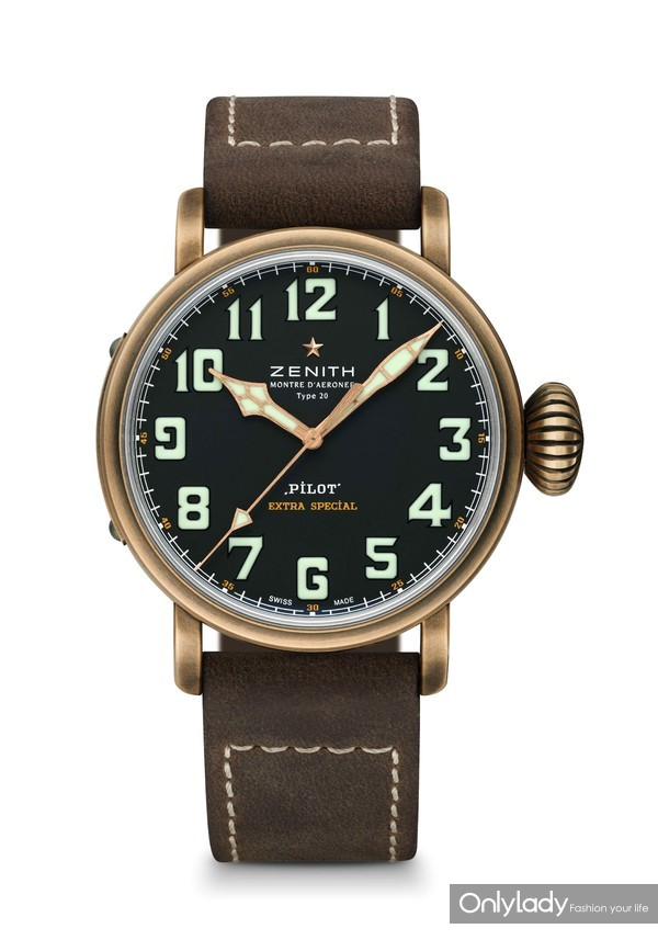 10- 真力时飞行员系列Type 20 青铜腕表,45毫米