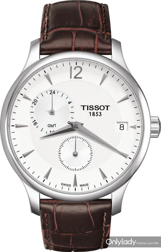 1:天梭俊雅系列世界时款腕表