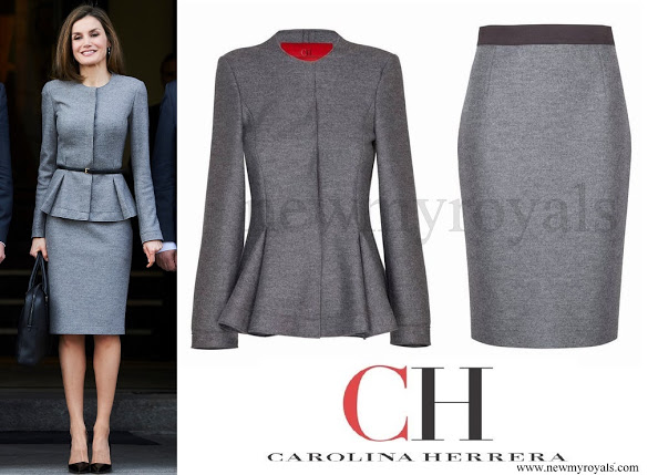 Queen-Letizia-wore-Carolina-Herrera-cashmere-skirt-suit