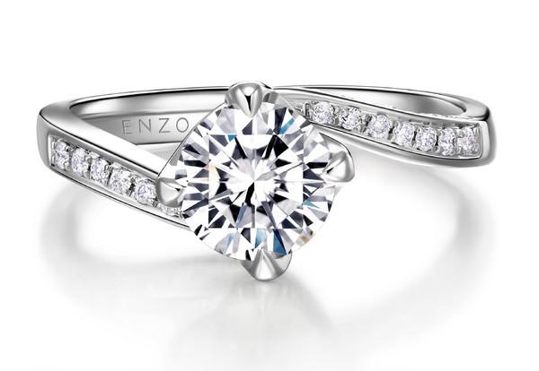 银河之眸系列18K金镶钻石戒指3