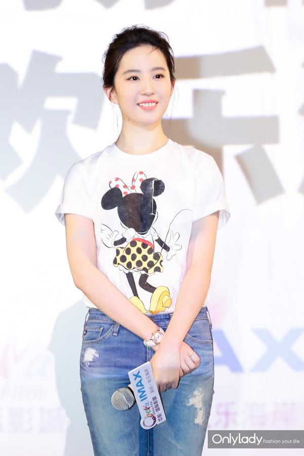 2:宣传活动中的刘亦菲