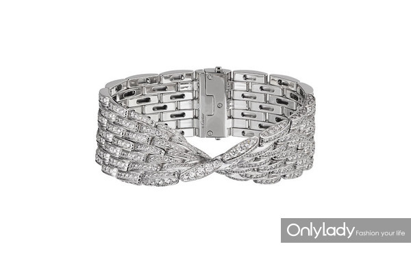Maillon Panthère bracelet, 18k white gold, diamonds