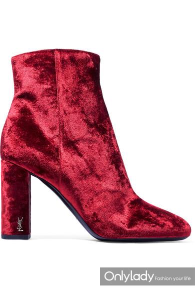 Saint Laurent Loulou 天鹅绒踝靴
