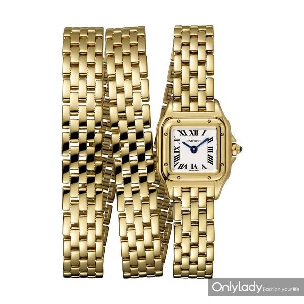 Panthère de Cartier猎豹腕表,三圈款,18K黄金
