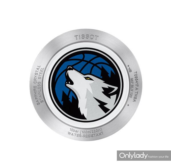 14:天梭时捷系列森林狼队特别款腕表