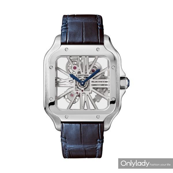 Santos de Cartier系列镂空腕表,大号款,精钢(2)
