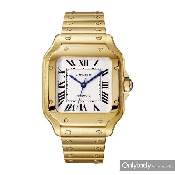 Santos de Cartier系列腕表,中号款,18K黄金(1)