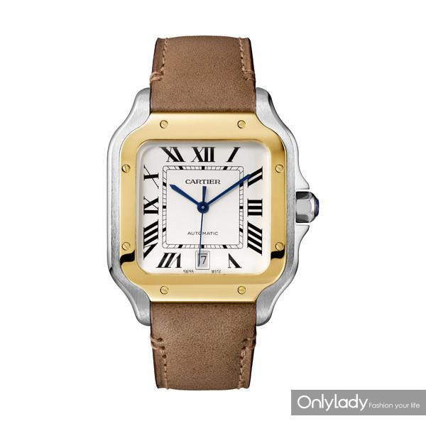 Santos de Cartier系列腕表大号款,18K玫瑰金与精钢(2)
