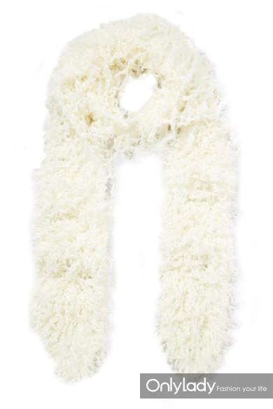 Missoni 人造羊毛皮围巾