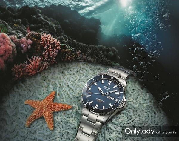 瑞士美度表OCEAN STAR领航者系列长动能防水腕表 M026.430.11.041.00 - 公关图