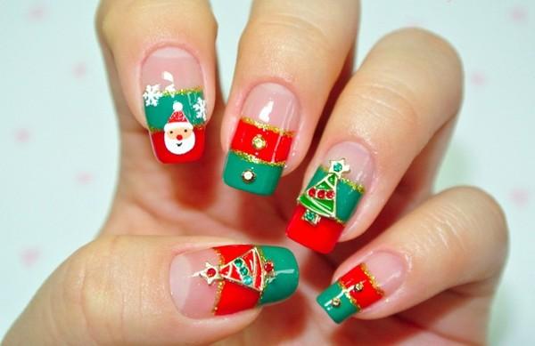 Cute-Christmas-Nail-art-designs-2015