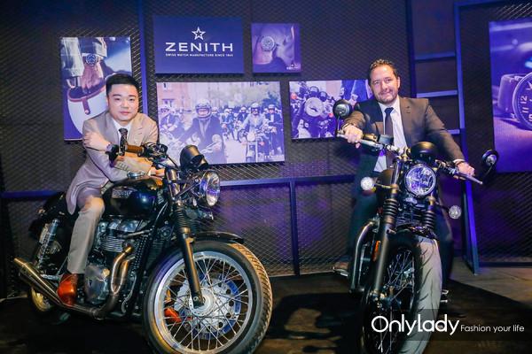 真力时品牌大使丁俊晖先生与真力时全球总裁朱利安