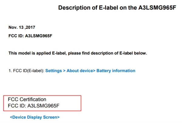 安卓新机皇走来:三星Galaxy S9/S9+通过FCC认证