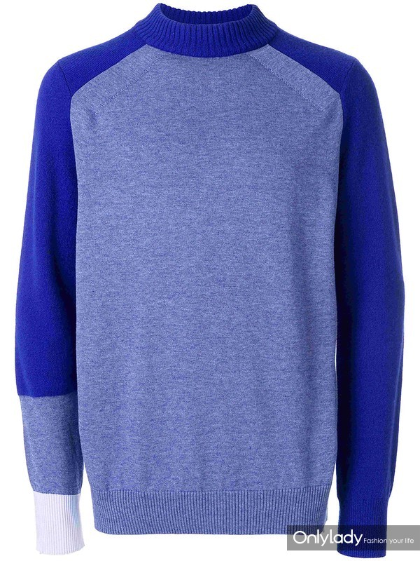 SACAI raglan panelled sweater at Farfetch