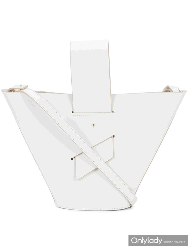 CAROLINA SANTO DOMINGO white amphora shoulder bag at Farfetch