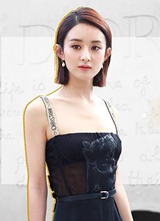 赵丽颖优雅性感 与Dior相逢恨晚!