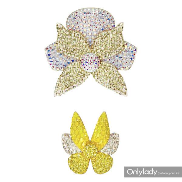5371233 Light Orchid brooch