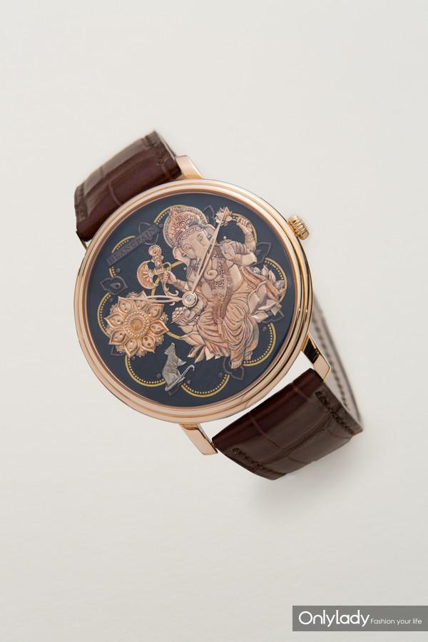 宝珀Villeret经典系列赤铜工艺象头神腕表