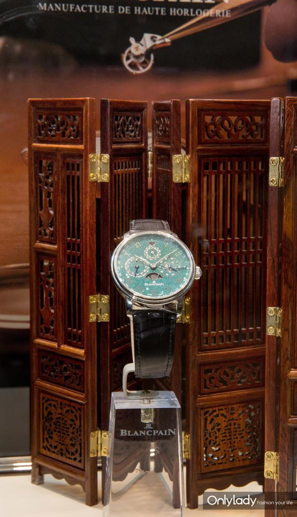 宝珀全新中华年历翡翠绿珐琅孤品腕表