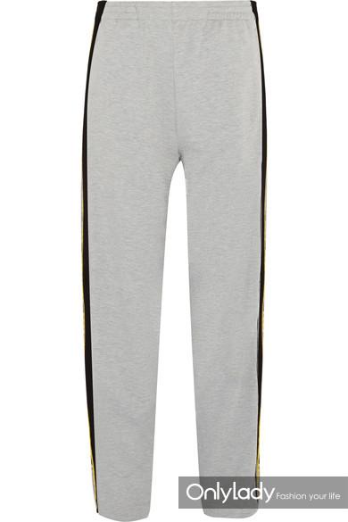 Koché 条纹平纹针织休闲裤