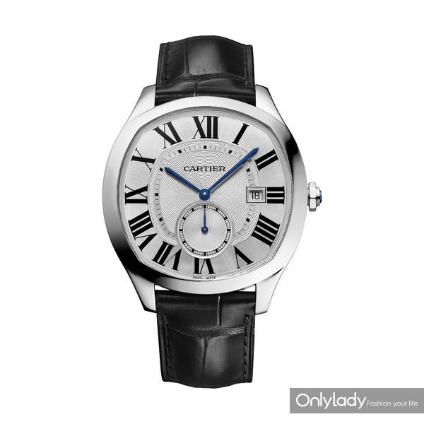图13. Drive de Cartier系列腕表,精钢,皮表带