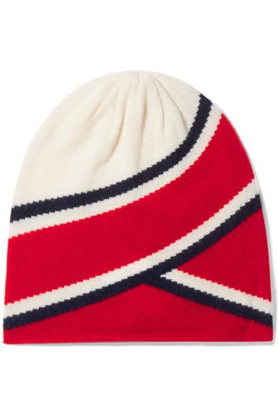 Madeleine Thompson Anastasia 条纹羊绒毛线帽