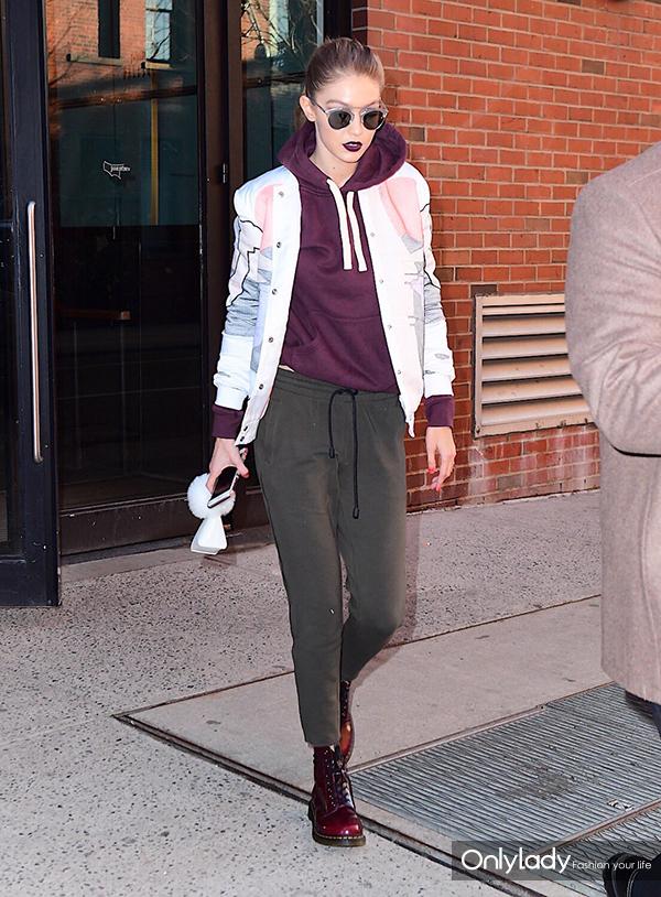 Gigi-Hadid-Dior-shades-Rochambeau-jacket-Dr-Martens-boots
