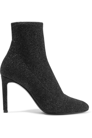 Giuseppe Zanotti Natalie 亮片弹力针织袜靴