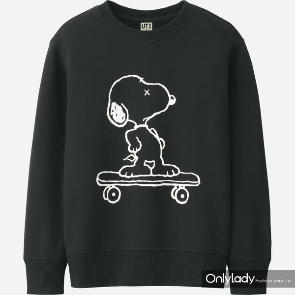 KAWS x PEANUTS黑色运动衫   初上市99元