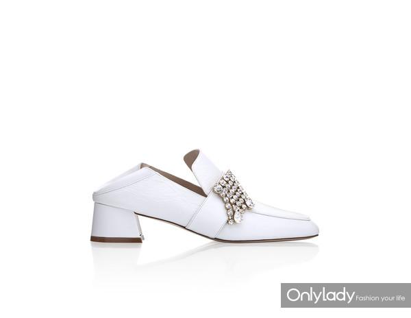 广告片鞋款-IRISES白色高跟穆勒鞋-RMB5,250