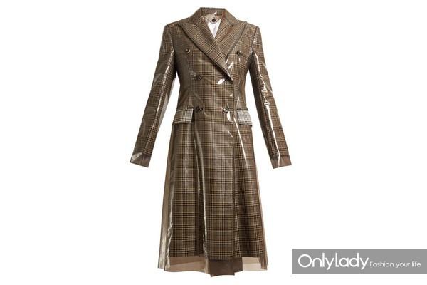 CALVIN KLEIN 205W39NYC PVC材质大衣
