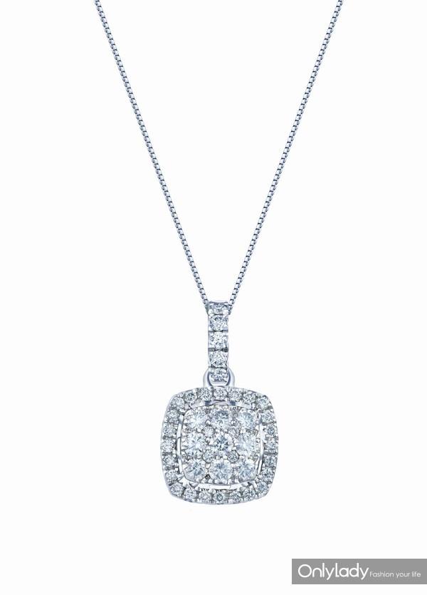 配图4-18K白色黄金配镶白色钻石项链左:参考价格RMB 9,990元
