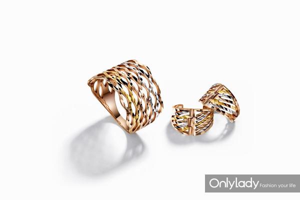 My Style系列18k金戒指、耳饰