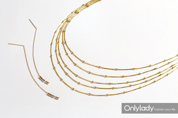 My Style系列18k金项链、耳饰