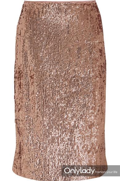 J.Crew 亮片绉纱半身裙
