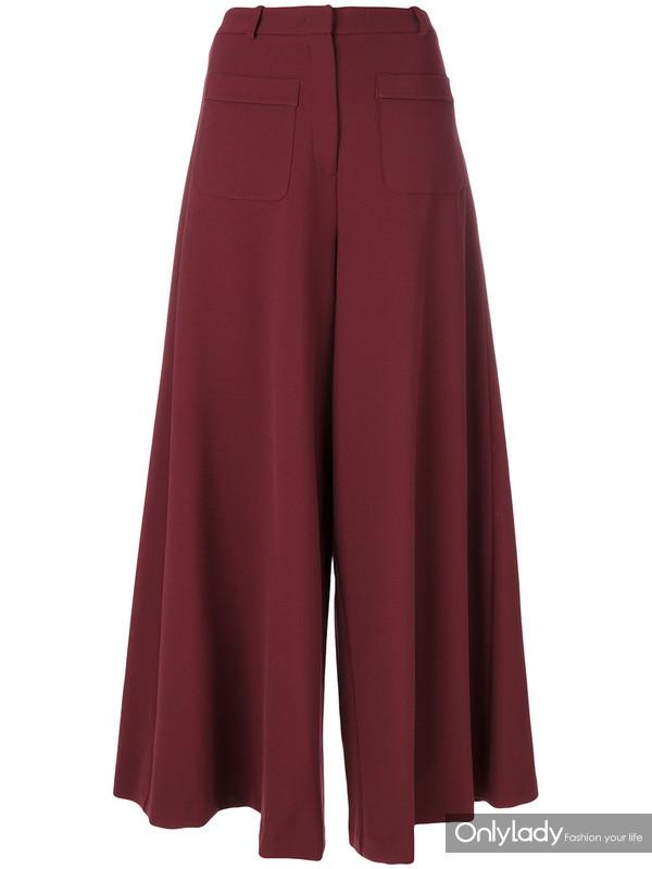 VIVETTA纯色喇叭裤