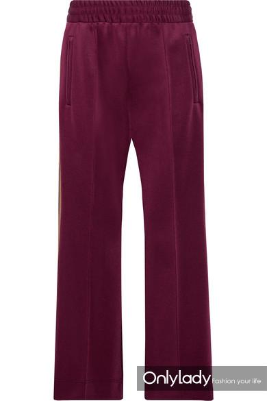Marc Jacobs 条纹科技弹力平纹针织休闲裤
