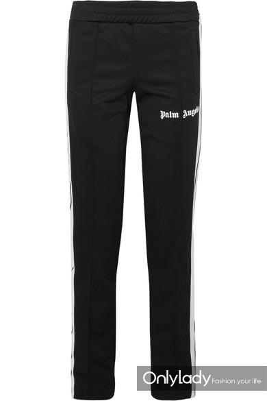 Palm Angels 条纹平纹针织休闲裤