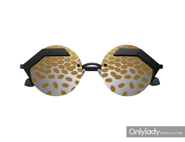BVLGARI宝格丽Serpenteyes系列金色太阳镜