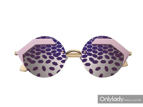 BVLGARI宝格丽Serpenteyes系列紫粉色太阳镜