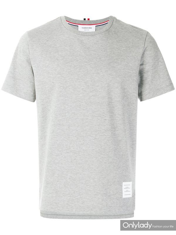 THOM BROWNE开衩宽松短袖T恤