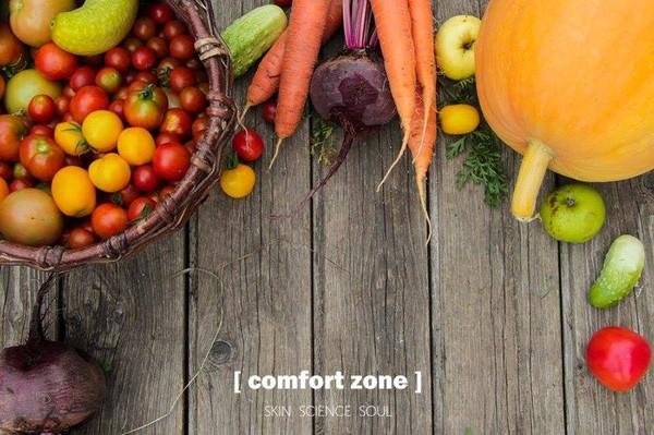 由科学委员会推荐的健康营养的食谱 对应不同的护肤产品线 亦是[comfort zone] 舒适地带所倡导的健康长寿的生活方式