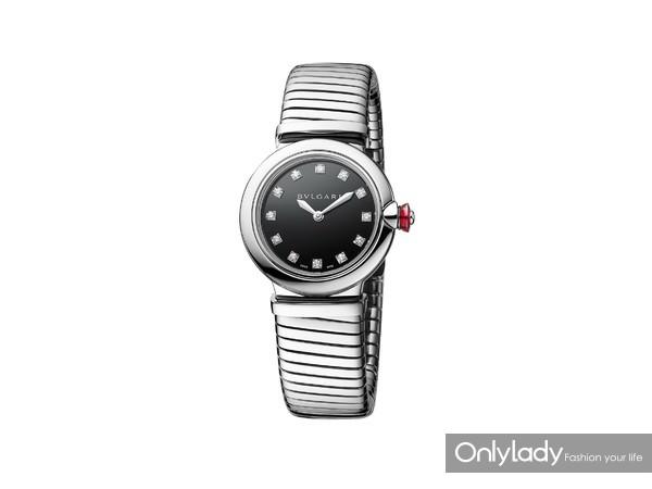 宝格丽LVCEA TUBOGAS精钢光环腕表102951,价格42,900元